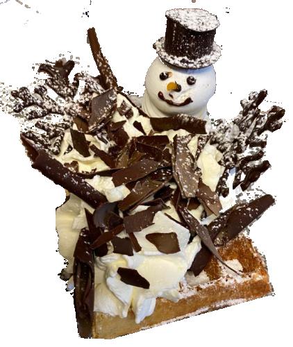 Gaufre décoration de Noël hivernale (Chocolat)