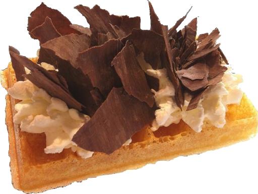 Gaufre + Double Creme + Copeaux de Chocolat